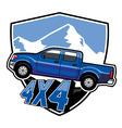 SUV car badge vector image