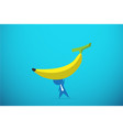 businessman lifting a banana by one hand vector image