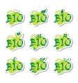 eco friendly organic natural bio product web icon vector image