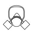 gas mask black color icon vector image