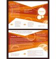 brochure folder globe element design vector image