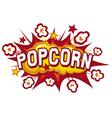 popcorn design vector image vector image
