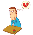 broken heart boy vector image