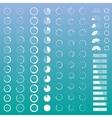 Progress bar set vector image