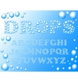 water drops alphabet vector image