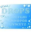 water drops alphabet vector image vector image