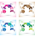 colourful landmark model group vector image