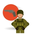Military icon design vector image