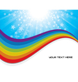 background with rainbow vector image