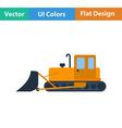 Flat design icon of Construction bulldozer vector image vector image