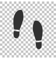 Imprint soles shoes sign Dark gray icon on vector image