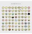 Hand drawn emotion icons vector image