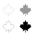 maple leaf the black and grey color set icon vector image