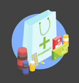 modern interior pharmacy and drugstore sale of vector image