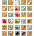 Set of medical accessories vector image