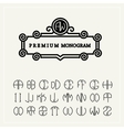 Set template letters to create monograms e vector image