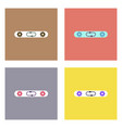 flat icon design collection gears in process vector image vector image
