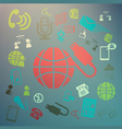 web icons Retina color vector image