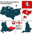 Kent South East England vector image