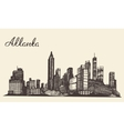 Atlanta skyline engraved hand drawn sketch vector image
