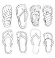 flip flops set vector image