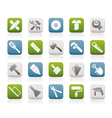 Construction tools object icons vector image
