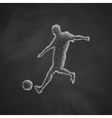 soccer player icon vector image