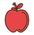 red apple fruit graphic vector image