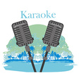 Karaoke night icon vector image