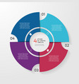circle infographic 4 options vector image