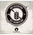alternative gluten free stamp vector image