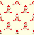 labrador retriever with santa hat seamless on vector image