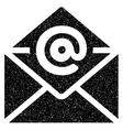 Open Email Grainy Texture Icon vector image