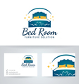 Bed Room Furniture vector image
