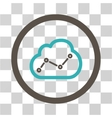 Cloud Analytics Flat Rounded Icon vector image