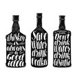 drinks alcoholic beverages label set whiskey vector image