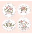Wedding floral graphic set vector image vector image