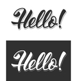 Hello sign vector image