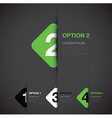 green option background square vector image