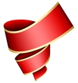 Swirl red ribbon vector image vector image