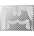 set transparent curtains lambrequin pelmet vector image