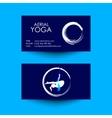 Business card of Aerial yoga studio vector image