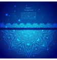 Blue Indian Vintage Ornament vector image