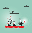 Business team of team of businessman vector image