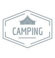 camping shield logo vintage style vector image