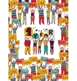 One year happy birthday crowd greeting card vector image