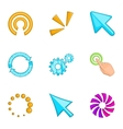 Pointer computer mouse icons set cartoon style vector image