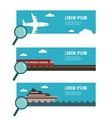 search for the right transportation for you vector image