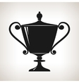 Silhouette cup of winner gold trophy cup vector image