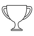 trophy cup isolated icon vector image